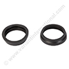 Rubber seal ring black for tank fitting ELECTROLUX / NILFISK (soft)