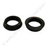 Rubber seal ring black for tank fitting ELECTROLUX / NILFISK (hard)