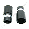 Screw cuff 32mm PVC black + metal ring for hose 32mm