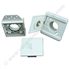Inlet valve 9x9cm white incl. mounting plate and plaster guard