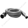SOTECO vacuum cleaner hose 32mm black 2m (with swivel cuff 36mm for bent tube)