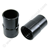 Screw cuff 51mm PVC black for reinforced hose 51mm