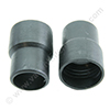 Screw cuff 29mm PE black for hose 28mm