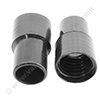 Screw cuff 32mm PVC black for hose 32mm