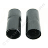 Screw cuff 38mm conic inside PVC black for hose 32mm