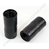 Screw connector 25x32mm PVC black for hose 25mm and hose 32mm (two parts)