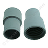 Screw cuff 51mm PE grey for hose 51mm