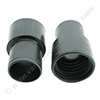 Screw cuff 51mm PE black for hose 51mm