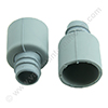 Screw cuff 28mm grey for POLYREX drain hose 19mm